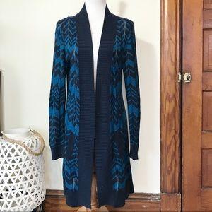 Missoni for Target Blue Chevron Open Knit Cardigan